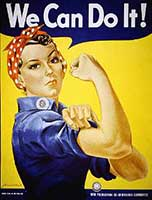 1940s We Can Do It Poster