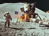 Apollo 11 astronauts on the moon
