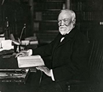 Andrew Carnegie at his desk