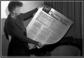 Eleanor Roosevelt Civil Rights Newspaper