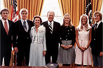 Ford family in the oval office