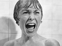 Shower scene Hitchcock's movie Psycho
