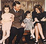 Hitler with Eva Braun and children