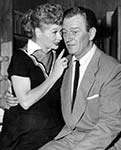John Wayne and Lucille Ball