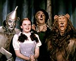 Dorothy, the tin man, the lion, and the straw man