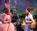 Dorothy and the Good Fairy in the Wizard of Oz