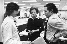 Katharine Graham with Reporters