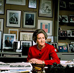 Katharine Graham at her desk