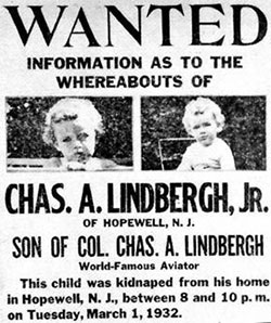 Lindbergh Missing Child Poster