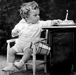 Charles Lindbergh as a child