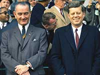 John F Kennedy and Lyndon B Johnson