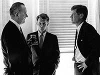 Lyndon B Johnson and John F Kennedy