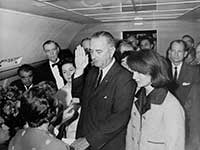 Lyndon B Johnson Taking the Oath