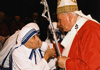 Mother Teresa with Pope