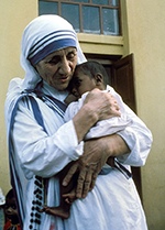 Mother Teresa with Baby