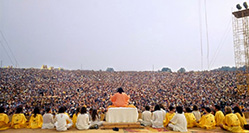 Swami Satchidananda at Woodstock Music Festival