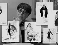 Edith Head fashion design sketches