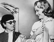 Edith Head with Grace Kelly