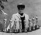 Edith Head with 8 Oscar Awards