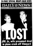 Newspaper article John F Kennedy Jr Lost