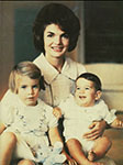 Jacqueline Kennedy with Caroline and John as children