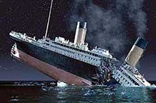 The titanic sinking color photo